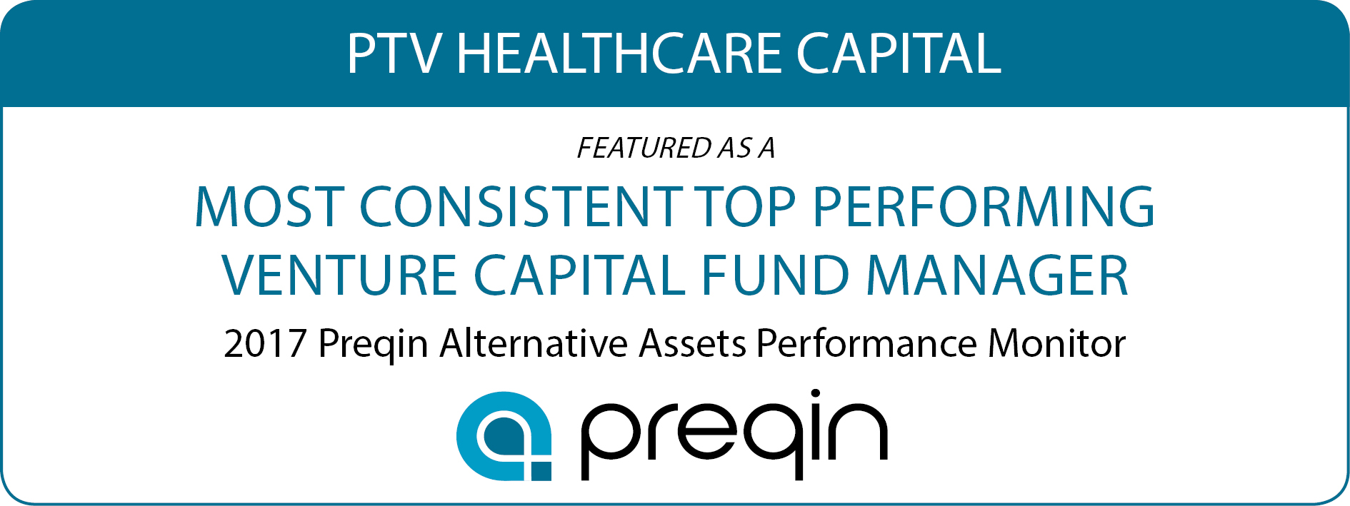 Most Consistent Top Performing Venture Capital Fund Manager - PTVHCC